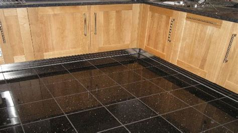 black floor tiles black galaxy granite floor tile black