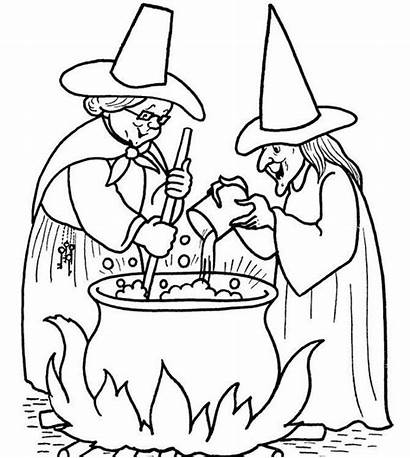 Coloring Witch Pot Cooking Pages Halloween Holiday