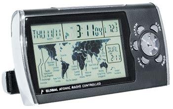world time zone desk clock global atomic radio controlled desk clock world time