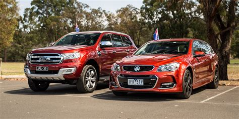 ford everest  holden sportwagon  australia day