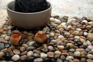 Basteln Mit Steinen : la reines blog noch eine fu matte aus steinen tolles ~ Watch28wear.com Haus und Dekorationen