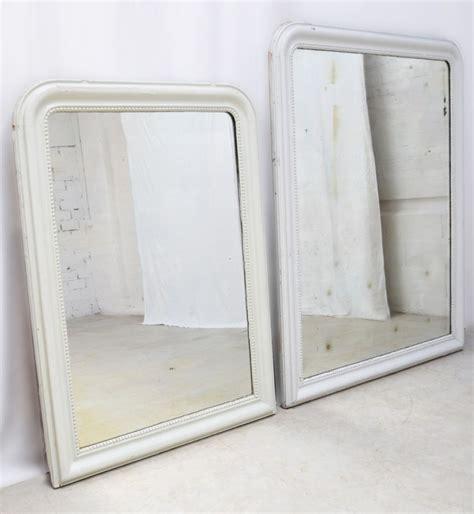 miroir de cheminée miroir miroir de chemin 233 e ancien vintage r 233 tro blanc