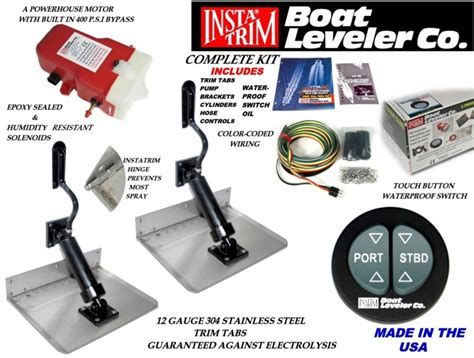 Boat Leveler Waterproof Trim Tab Switch by Insta Trim Boating Marine Trim Tab Kit 10 X 8 Water Proof