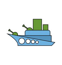 Toy Boat Outline by Frog Sailing Toy Paper Boats Outline Drawing Vector Image
