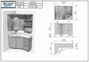 un meuble version triangle pour s39adapter aux coins de la With meuble de salle de bain en coin