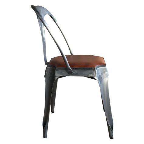 chaise cuir vintage chaise style vintage industriel en métal et cuir demeure