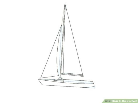 How To Draw A Boat Easy by How To Draw A Boat Wikihow