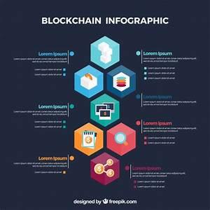 Infographic Blockchain Concept Vector