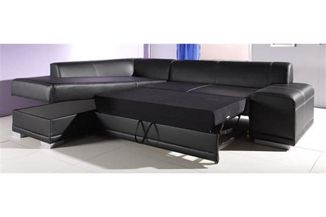 but canape angle cuir photos canapé d 39 angle cuir noir convertible