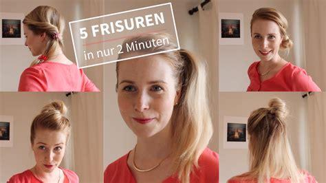 einfache frisuren   minuten ohne flechten youtube