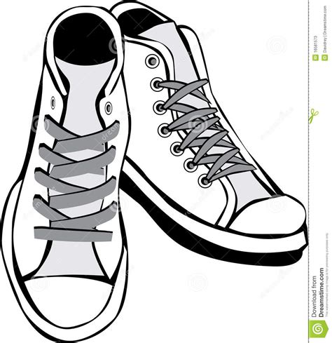 shoe clipart black and white tennis shoe black and white clipart