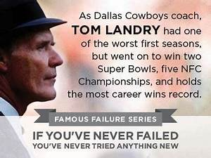 37 best images ... Tom Landry Inspirational Quotes