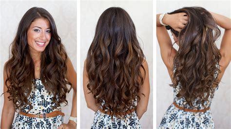 Big Voluminous Curls Hair Tutorial   YouTube