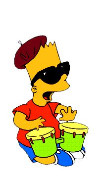 bart drums  simpsons gif