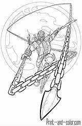 Kombat Mk11 Teamzoth Ninjas Ohbq Kenshi Colorironline Disenos Kidscloud sketch template