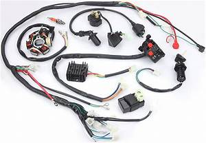 Electric Wiring Harness Kit Magneto Stator For Gy6 125cc