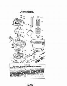 Sears Shop Vac Manuals