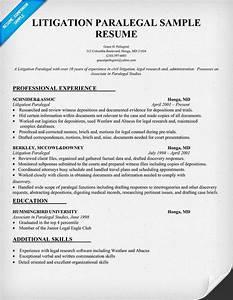 Cv And Cover Letter Samples Litigation Paralegal Resume Sample Resumecompanion Com