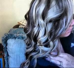 Platinum highlights and dark brown lowlights | Hairstyles ...