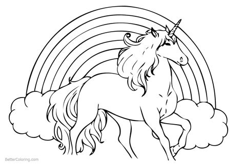 rainbow unicorn coloring pages  printable coloring pages