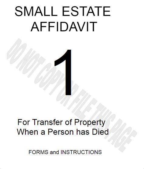 georgia small estate affidavit form 77 affidavit form templates free pdf word exles