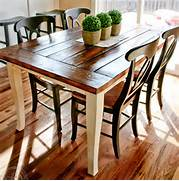 Farm Style Kitchen Chairs by HOME DZINE Home Decor Dining Table Top Makeover With Rustic Finish For Farm