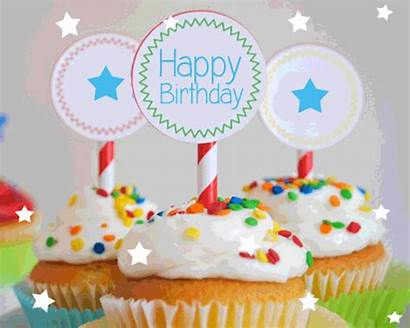 Birthday Happy Cupcakes Greetings Card Happybirthday Say