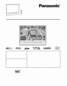 Panasonic Projection Television Pt 61dlx75 User Guide