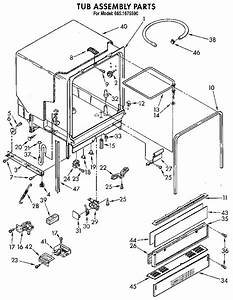 Tub Assembly Diagram  U0026 Parts List For Model 6651675590