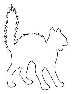 cat template scary cat pattern use the printable outline for crafts