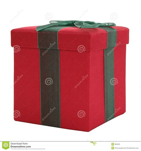 red and green fabric gift box stock photos image 360523