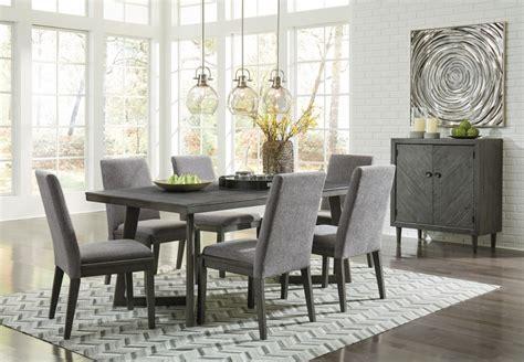 Rectangular Dining Room Table & 6 Uph Side