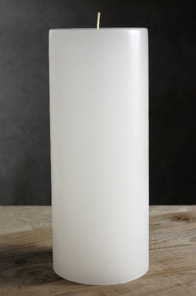 white candle unscented