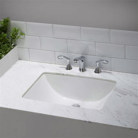 Ceramic Bathroom Sinks by Kraus Elavo Large Rectangular Ceramic Undermount Bathroom
