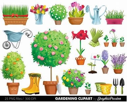 Clipart Garden Gardening Plant Clip Flowers Garten
