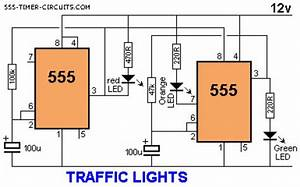 Traffic Light Electronics Project With A 555 Timer