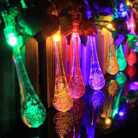 colored solar lights outdoor string lights insteading