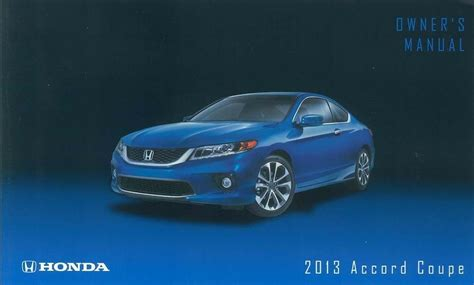 honda accord coupe owner manual user guide reference