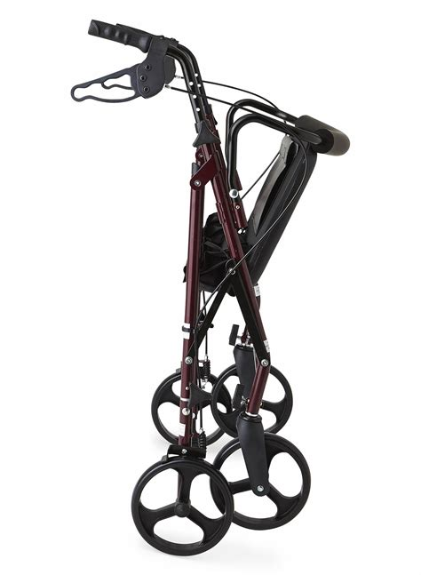 walker rollator bariatric heavy duty medline 500 capacity seat wide rolling extra lb wheels mobility mack mighty lbs inch amazon