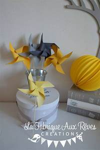 Moulin A Vent Deco Bapteme : moulins vent jaune soleil jaune moutarde gris mariage photobooth bapteme baby shower ~ Melissatoandfro.com Idées de Décoration