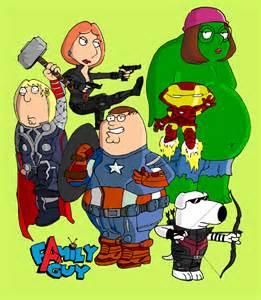 Family Guy as the Avengers