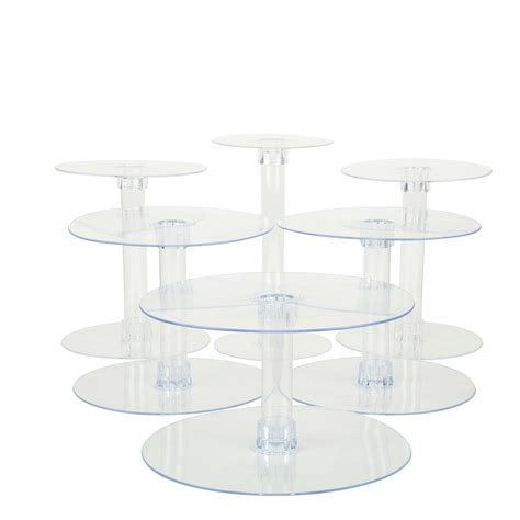 tier clear acrylic cupcake cake stand tableclothsfactory