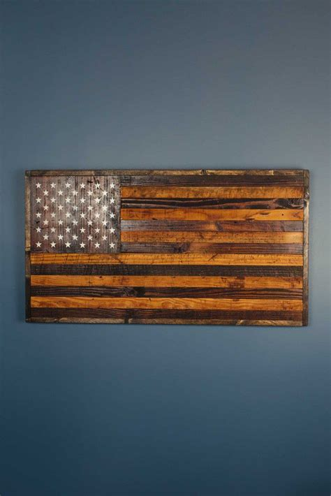 reclaimed barnwood rustic american flag woodworking
