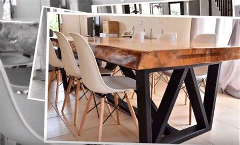 faire sa table a manger tutoriel une table pi 232 tement m 233 tal et plateau bois