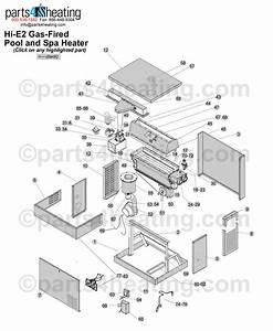 Jandy Hie2 Gas Heater Clickable Parts Diagram