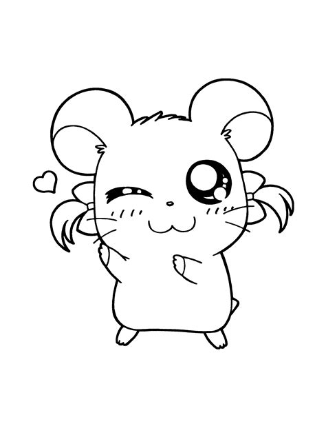 hamtaro coloring page tv series coloring page picgifscom