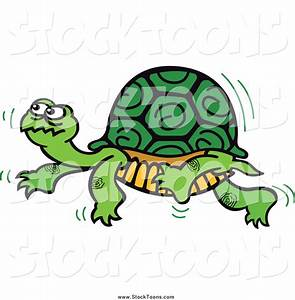 Stock Cartoon of a Turtle Walking Slowly by Zooco - #7198