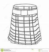 Kilt Scotland Outline Country Illustration Vector Isolated Symbol Icon Background Template Templates Skirt sketch template