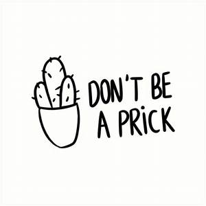 """""""HIPSTER : DON'T BE A PRICK"""" Art Prints by hslim Redbubble"""