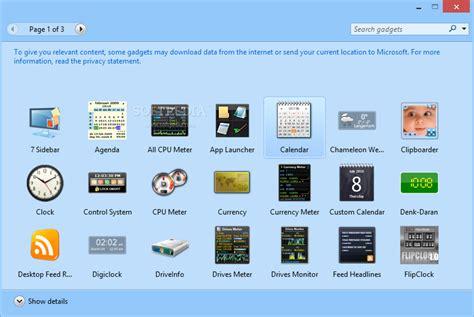 gadgets bureau windows 8 8gadgetpack